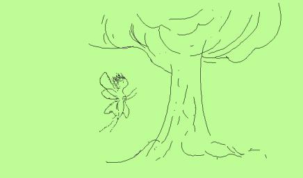 Fingertip sketch - green