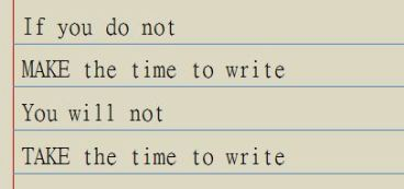 Make the time to write.JPG