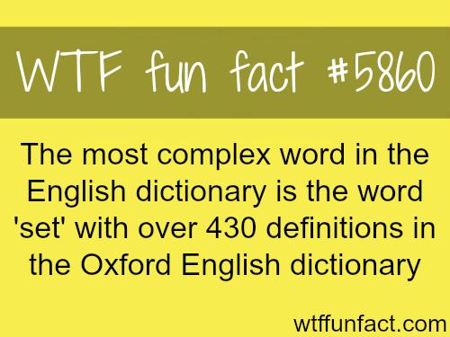 fun fact - the word set