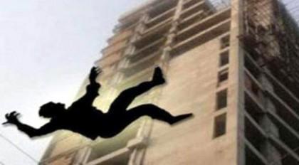 silhouette of falling man